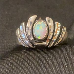 Silver Ring Opal stone